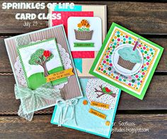Sootywing Studios: Sprinkles of Life Card Class, Stampin' Up!, Sprinkles of Life, Birthday, Thank you