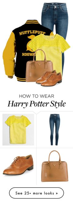 """""""Badger"""" by bella8 on Polyvore featuring J.Crew and Prada"""