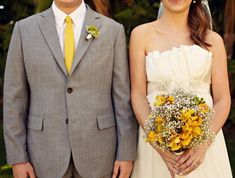 I think that grey and yellow are one of the classical schemes for wedding decor – colorful and elegant. Such a color scheme is ideal for a spring wedding when you are tired of winter and want colors so much, or for a bright summer wedding ...