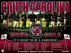 South Carolina Men's Golf Poster (2013-2014)