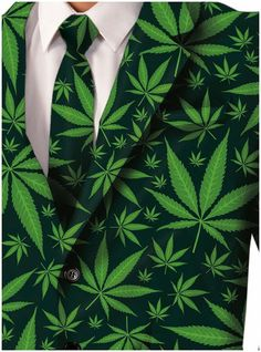 It's 4:19… got a minute? This classy Cannabis Joint Venture Suit Adult Costume for men is one of Forum's newest creations, dreamed up by the high-fashion masterminds in the Cannabis Couture Department . This smoking-hot Joint Venture Suit Adult Costume for Men includes a forest-green Smoking Jacket, with a bold lime-green print featuring a pattern of beautiful marijuana leaves. Smoke 'em if you got 'em! A pair of matching Maryjane Pot Leaf Pants, with a trendy straight-legged cut, is also…
