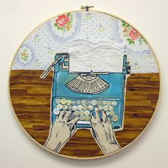 Typewriter Embroidery