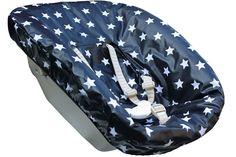 Stokke Newborn cover plasticized, dark blue with white stars. www.ukje.nl
