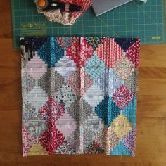 marysdugan's photo: #happymailminiquiltswap just need to put them together...quilt and bind! #mollyflanders #mymakerie