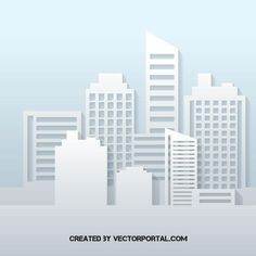 Flat buildings silhouette - Free vector image in AI and EPS format. Building Silhouette, Silhouette Vector, Free Vector Graphics, Free Vector Images, Geometric Decor, City Illustration, Silhouettes, Signage, Skyscraper