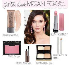 Megan Fox's makeup look for less