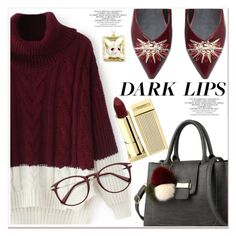 """""""dark lips"""" by paculi ❤ liked on Polyvore featuring Lipstick Queen"""