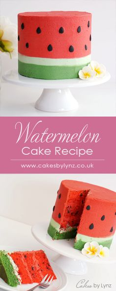 Watermelon Cake Tutorial – Lynz Cake The perfect cake for summer # Watermel … - Obstkuchen Watermelon Birthday Parties, Fruit Party, Fruit Birthday, Hawaii Cake, Adult Birthday Cakes, Birthday Cake For Kids, Hawaii Birthday Cake, 12th Birthday, Indian Cake
