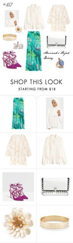 """#417 Hijabi in Wonderland"" by aminahs-hijab-diary ❤ liked on Polyvore featuring Kofta, H&M, Zara, Proenza Schouler, Carolee, Stella & Dot and Kate Spade"