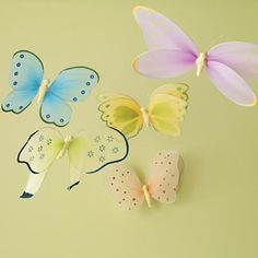 Love these butterflies.  Have them in oldest daughter's room but hung them ON the wall instead of hanging from ceiling.