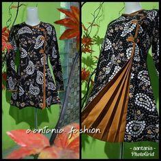 Muslim Fashion, Hijab Fashion, Fashion Dresses, Blouse Batik, Batik Dress, Batik Muslim, Mode Batik, Kurta Neck Design, Batik Fashion