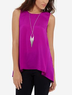 Sleeveless Silky Tank from TheLimited.com