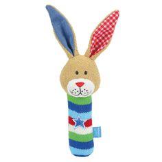 Süßer Greifling mit Quietschton für Jungs und Mädchen LIEF Stabgreifling #Hase | Babyartikel.de