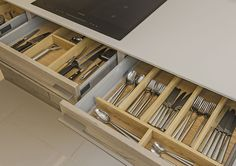 Bulthaup Style Grey Stained Ash Slab Kitchen (3)