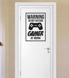 Gamer Do Not Disturb Warning Version 1 Game Gaming Decal Sticker Wall Vinyl Art Decor