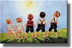 Boys Urinating into the Sun, Toilet Bathroom Picture on Stretched Canvas Wall Art Decor, Ready to Hang!: We have transferred this magnificent piece of art onto stretched canvas and it is ready for hanging. Bathroom Decor Pictures, Bathroom Artwork, Diy Bathroom Decor, Bathroom Signs, Bathroom Ideas, Bathroom Makeovers, Boys Peeing, Vintage Bathrooms, Coastal Bathrooms