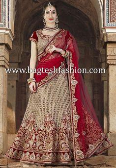 Stunning Red Velvet Lehenga Choli