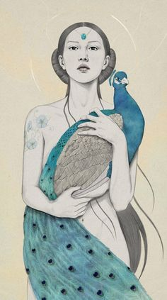 Diego Fernandez...reminds me of Alphonse Mucha stylistically.
