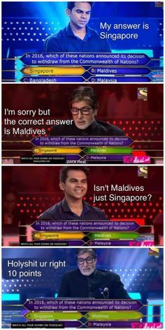 Singapore = Maldives
