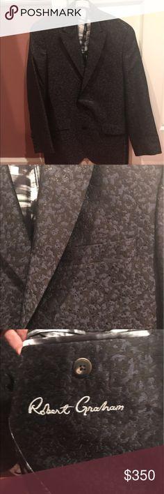 Robert Graham sports jacket Sports jacket. Blue and black. Worn once Robert Graham Suits & Blazers Sport Coats & Blazers