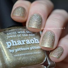 Pharaoh is a light white gold jelly scatter holo and dries smooth on the nail (contains no glitter). (Was Ozotic 604)  Picture Polish is an Australian brand producing 5-free nail polish and a big favorite amongst Nailistas! Famous for creating unique shades, the brand has more than a hundred different polishes in its selection. Picture Polish definitely has the perfect color for you!