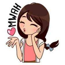 About Alice sticker Cute Love Pictures, Cute Cartoon Pictures, Cute Love Gif, Cute Cartoon Girl, Crazy Feeling, Alice, Funny Emoji, Cute Love Cartoons, Anime Love Couple
