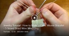 Learn how to make a wire wrapped, 5 strand braided bracelet in this beginner friendly jewelry project tutorial. Part 2: https://www.youtube.com/watch?v=X6yCH ...