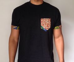 Pocket Style African Print Tshirt