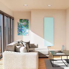 Designový radiátor Variant Cool - matné kalené bezpečnostní sklo zakrývá výkonné ocelové profily zaručující rychlý ohřev a vysoký tepelný výkon. Bathroom Radiators, Designer Radiator, Cool Stuff, Bed, Furniture, Home Decor, Decoration Home, Stream Bed, Room Decor