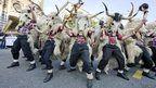 "Zvoncari ""bell ringers"" at the Rijeka Carnival in Croatia - photo by Rudolf Abraham"