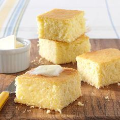 Buttery Corn Bread. Cake like consistency. Using ingredients you always have in the pantry.