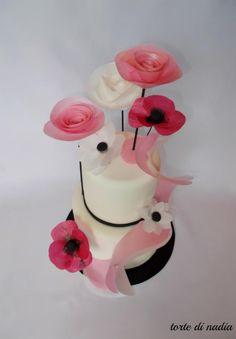 Wafer paper flower tutorial cake bling pinterest wafer paper wafer paper flowers mightylinksfo