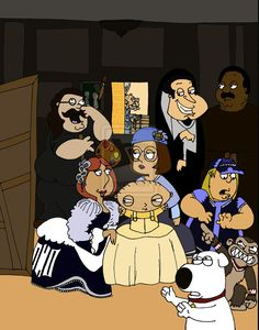 Las Meninas (Velazquez)-Family Guy Style by ~BufoBufo21 on deviantART