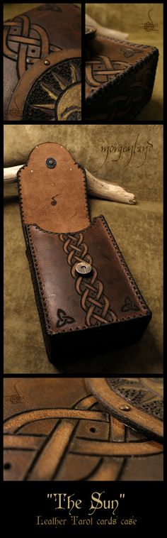 'The Sun'  Leather tarot cards case by morgenland.deviantart.com