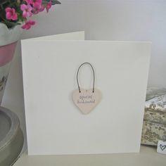'Special Bridesmaid' Handmade Card from notonthehighstreet.com