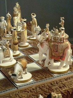 Sandalwood and Ivory Chess Set India 19th century CE | Flickr
