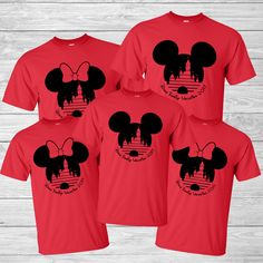 Disney Family Vacation Shirt - Mickey Head & Cinderella's Castle - Personalized Last name by CottonCollective on Etsy https://www.etsy.com/listing/495405098/disney-family-vacation-shirt-mickey-head