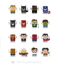 De Duitse illustrator Ballooon is bezig met een indrukwekkend portfolio. Ditmaal aandacht voor een toffe serie mini superheroes in de maak: www.obeymagazine.nl/graphic-design/illustraties/mini-superheroes