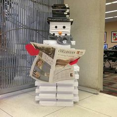 Paper and book Snowman