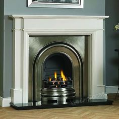 Free delivery and returns on all eligible orders. Shop Traditional Large Gas Fire Fireplace Suite, Grey Surround Mantel, Black Granite Stone Hearth, Cast Iron Arched back panel. Cream Fireplace, Fireplace Logs, Cast Iron Fireplace, Fireplace Ideas, 1930s Fireplace, Victorian Fireplace Tiles, Tile Around Fireplace, Edwardian Fireplace, Vintage Fireplace