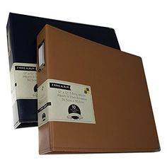 WANT!  2 DCWV 3 Ring Leatherette Scrapbooking Albums Photo Binders 12x12 Acid Free Pages