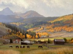 """Mountain Atmosphere"" 30"" x 40"" oil - Jay Moore - Astoria Fine Art Gallery in Jackson Hole"