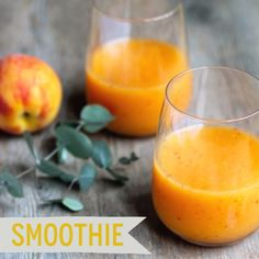 mango peach and coconut water smoothie