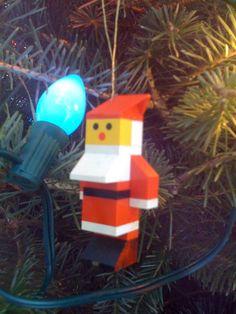 lego ornaments - I fricken 💖 this! Lego Christmas Ornaments, Noel Christmas, Christmas Decorations, Xmas, Lego Design, Christmas Activities, Christmas Projects, Legos, Lego Tree