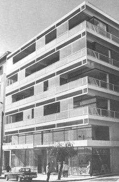 Takis Zenetos, Building at Vasilis Amalias Str, Athens Design Thinking Process, Dream House Plans, Modern Architecture, Facade, Greece, Multi Story Building, Exterior, Modernism, Towers