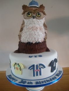 Sheffield Wednesday Owl Cake  By: annabellasimmo