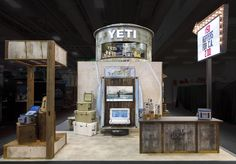 Condit custom fabricated the YETI Coolers booth for OR Summer 2016. Materials included barn wood, rusted sheet and corrugated metal, and of course this vintage repurposed truck bed!