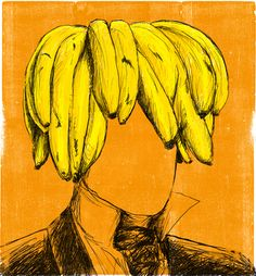 """Who's banana?"" print by Luis Alegre"