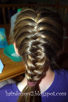 Hairdo How-to: French Fishtail/ Herringbone/ Chevron Braid Cute Girls Hairstyles, Braided Hairstyles For Wedding, Pretty Hairstyles, Braid Hairstyles, Updo Hairstyle, Braided Updo, Hairstyles Videos, Protective Hairstyles, Hairdos