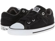 Baby Boys Shoes Converse CT HIGH STREET SLIP OX Toddler Size 10 Black/White NWB…